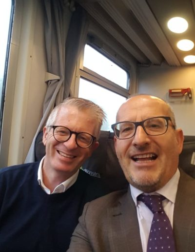 Michele e Marcello verso Salerno, conferenza nazionale Assifero 2019